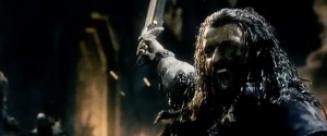 Thorin at the Battle of Azanulbizar ® & ™ 2012 Warner Bros, Entertainment Inc. All Rights Reserved.