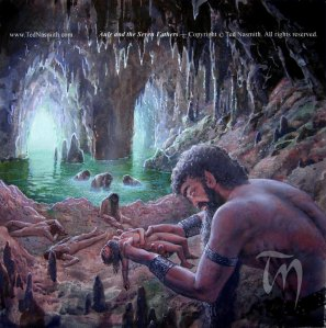 Ted Nasmith's  Aulë and the Seven Fathers