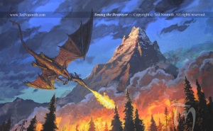 Ted Nasmith's Smaug the Destroyer