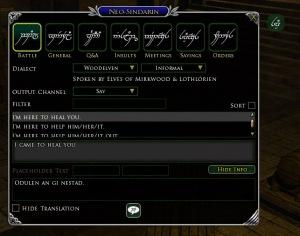 Neo-Sindarin Plugin